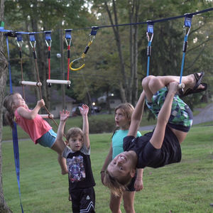 Gentle Booms Sports Playground Outdoor Ninja Warrior Obstacle Course for Kids Slackline