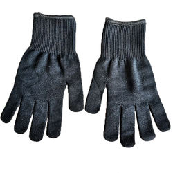 Black Thermal Glove Merino Wool Glove Liner Gloves for Keep