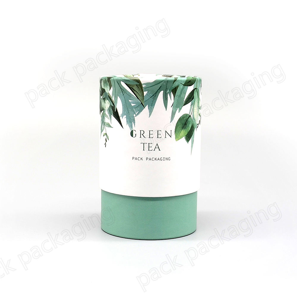 Custom Printing Food Packing Tea Paper Tube Packaging Eco Friendly Cylinder Cardboard Loose Tea Box Cans with Lid Food Grade