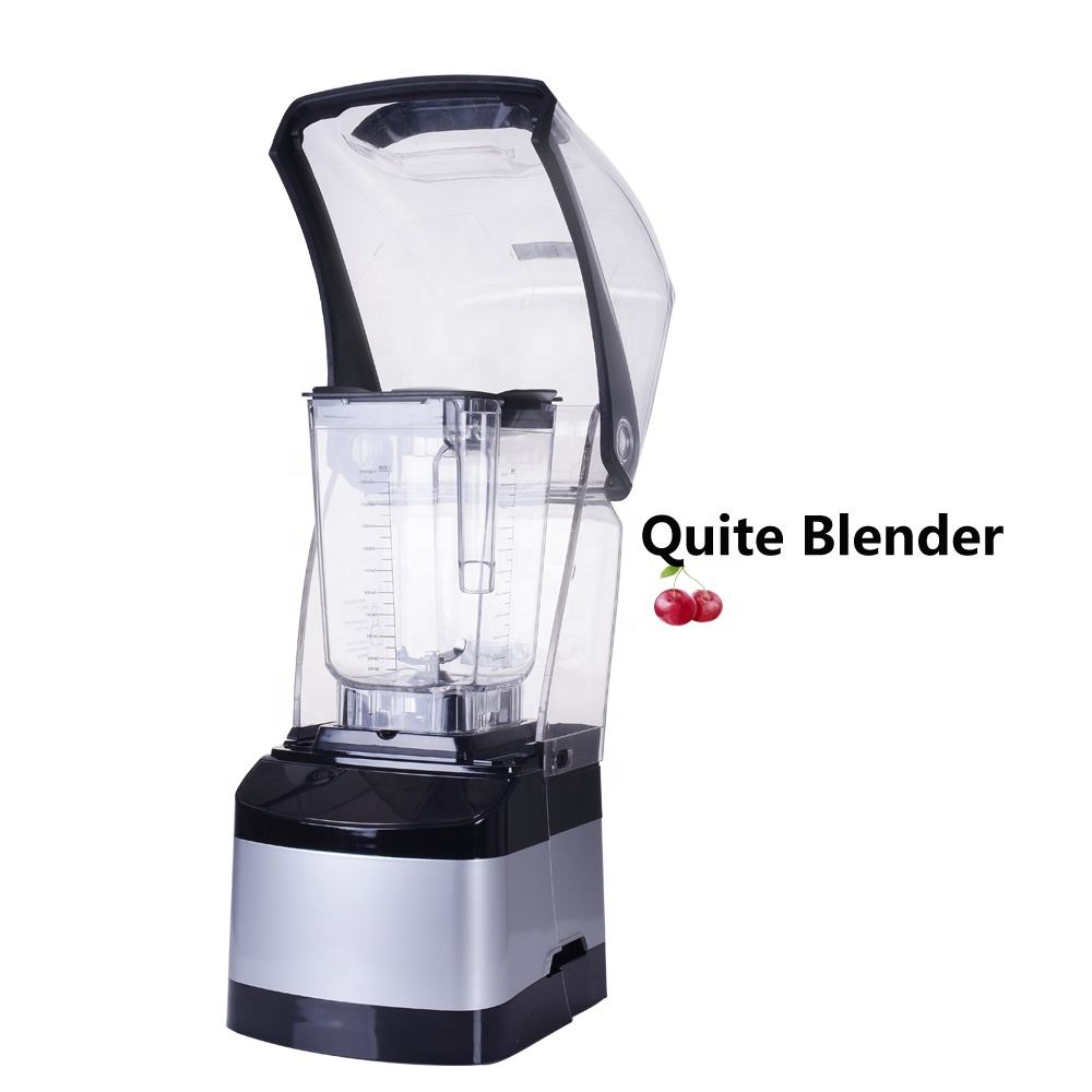 Commercial Blender Quiet Low Noise Smoothie Cafe Blender and Mixer