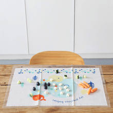 Alphabets & Numbers Eco-Friendly Disposable Placemats for Kids WaterProof Extra Sticky Table Topper For Baby
