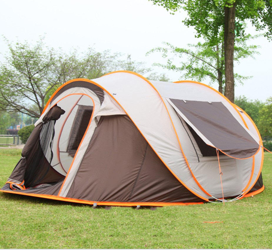 Outdoor Automatic Instant Portable Tent Family Activity Easy Quick Set Up Tent 3-4 Person Hiking/Beach/Fishing Pop Up Tent
