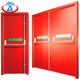 Red 1600mmW*2200mmH Double Fire Doors 90mins fireproof time Emergency Steel Fire Exit Door with Panic Bar