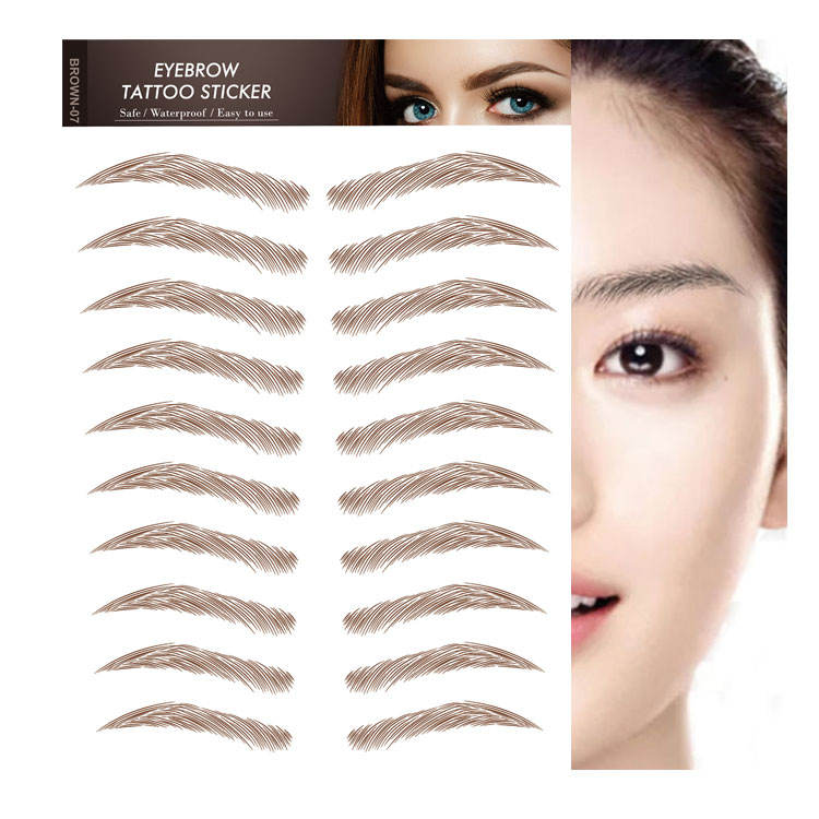 custom temporary tattoo sticker 3d eyebrow tattoo sticker