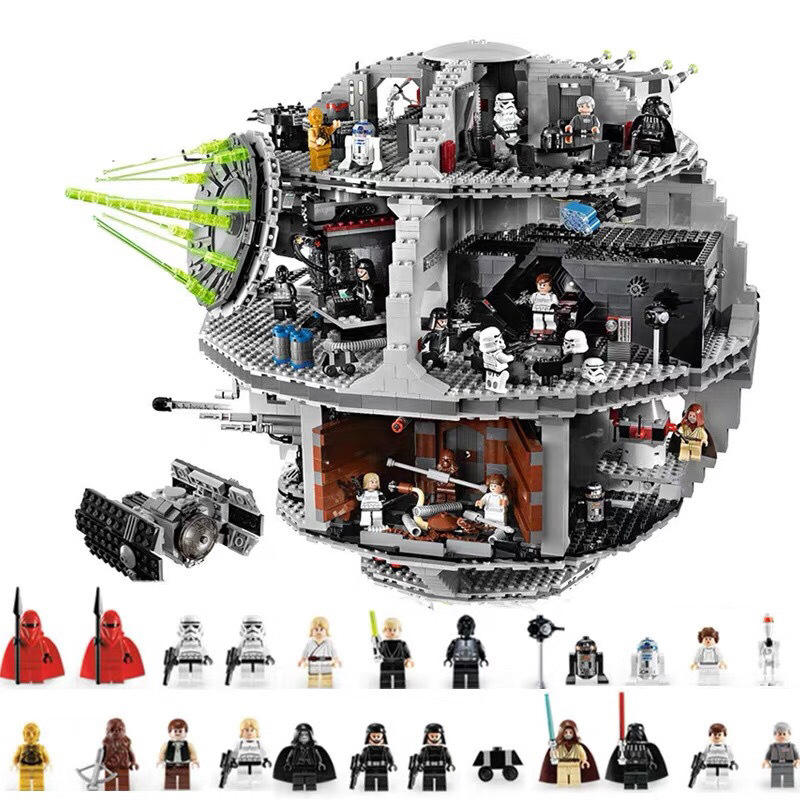 New Stars Wars Death Star Xây Dựng Khối Legoing Airship Khối Xây Dựng