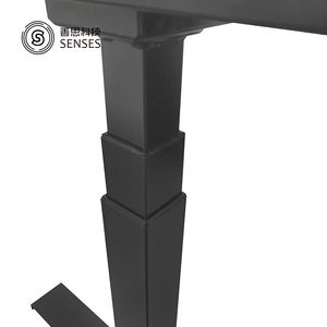 Three-stage square shape lifting column table frame converter for sit stand desk adjustable electric height table