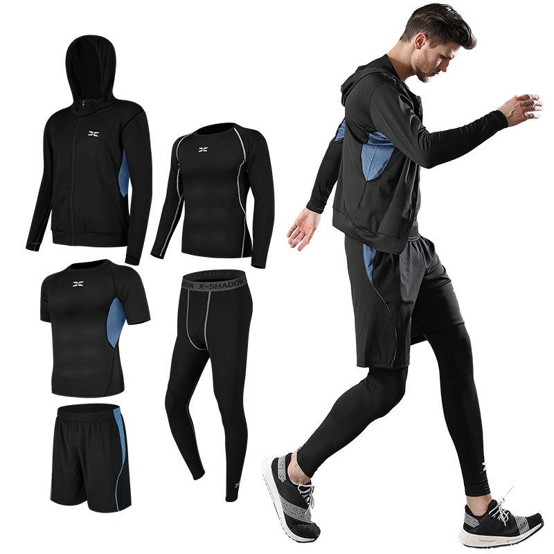QIZHI Cycling Europe Mens Jacket High Elastic 3D Printed Hooded Zip Shirt