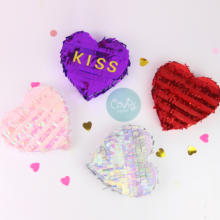 Valentine day gift box in pinata be miniature pinatas for birthdays heart party decoration,wedding,holiday with tassel