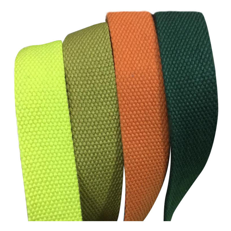 Solid color thickened 2mm polyester cotton webbing 3cm plain webbing canvas bag cotton webbing clothing shoe material