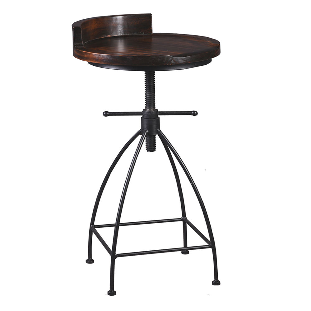 Restaurant Stool Bar Chair Wood Black Frame Style Bar Stool