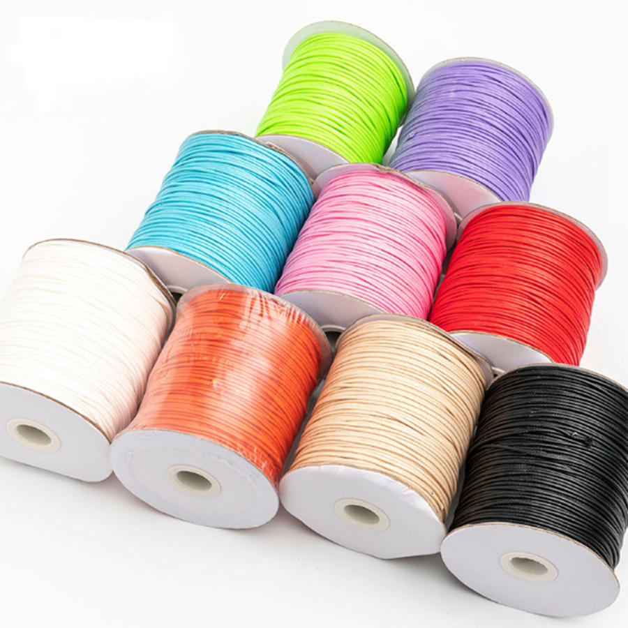 China manufacturer wholesale high strength wax thread 1mm waxed nylon thread sewing thread