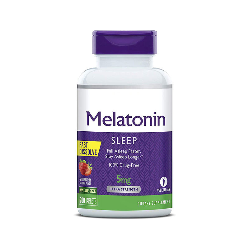 Melatonin 5mg Fast Dissolve Tablets, Helps You Fall Asleep Faster, Stay Asleep Longer Easy to Take Dissolves in Mouth