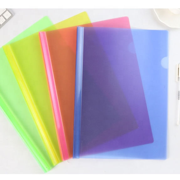 Office Stationery Plastic Folder A4 Size Document Clear Report Cover Slide Bar File Folder