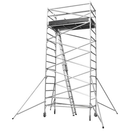 Multi-use Portable Frame Aluminum Mobile Tower Ladder Scaffold and Wheels
