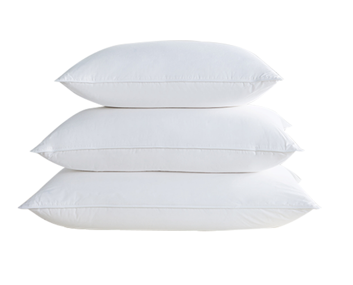 wholesale high quality goose feather filled bed pillows for hotel