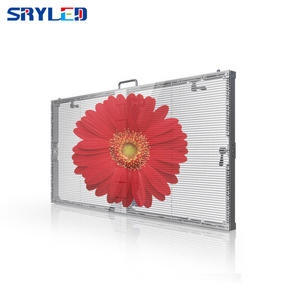 Indoor Slim Electronic Digital Panel Advertising Transparent Window P3.91 Rental Led Display Screen
