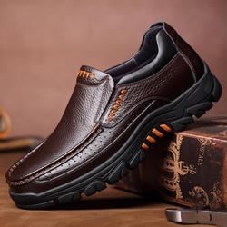New Casual Comfy Genuine Cow Leather Business Men Boat Shoes