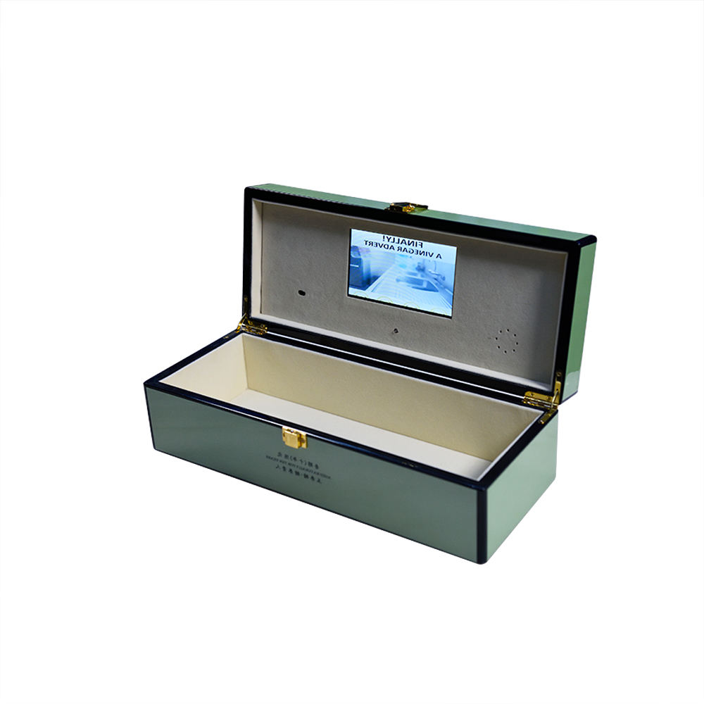 Presntation Jewelry Greeting Card LCD Video Gift Box Brochure Packaging Display with Video