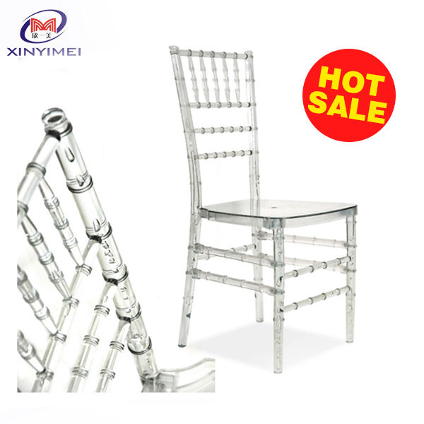 Wholesale used stacking clear acrylic tiffany chair for event