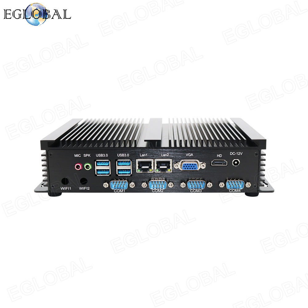 Eglobal fanless Industrie mini pc i3 Win7 XP Linux 12V embedded box pc computer intel celeron 1007U tiny computer
