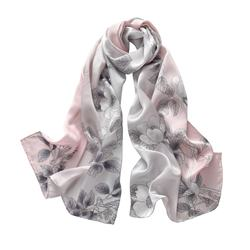 100% Real Silk Satin Digital Print Scarf  50*170cm Rectangular Scarves