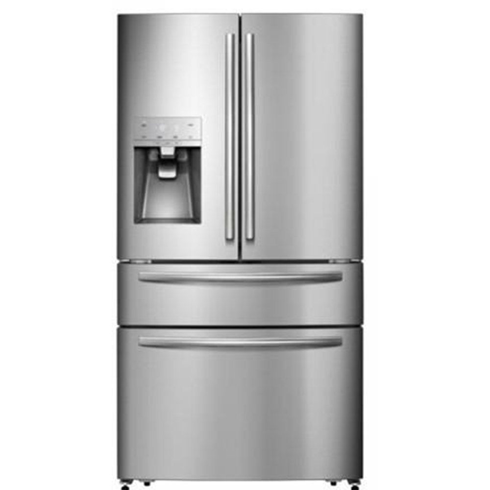 Built-in French Door Stainless Steel Home Compressor Refrigerator with Dispenser
