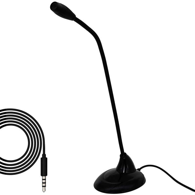 Hot selling desktop Condenser microphone stand laptop Table gaming 3.5mm mic microfono