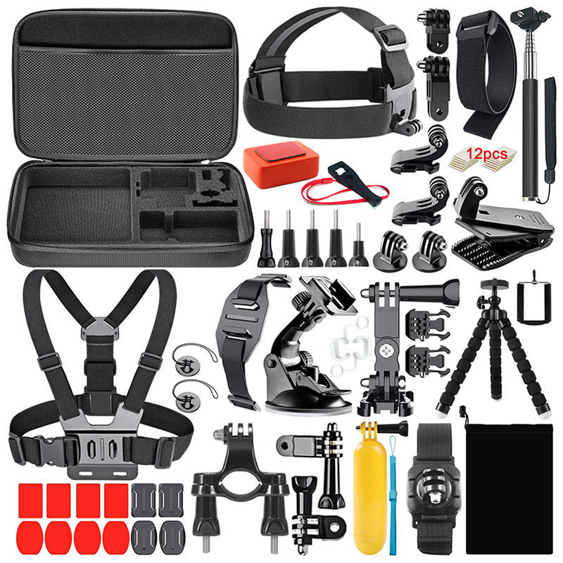 2020 new product Camera Accessories kit 50 in 1 Mount Head Chest Strap Suction Cup accessories set for GoPro Hero 8 7 6 6 5 4