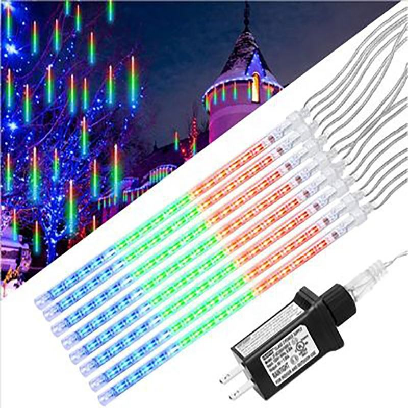 Factory outlets Waterproof Outdoor 30/50cm Meteor Shower Rain LED String Lights For Christmas Party Garden Decoration