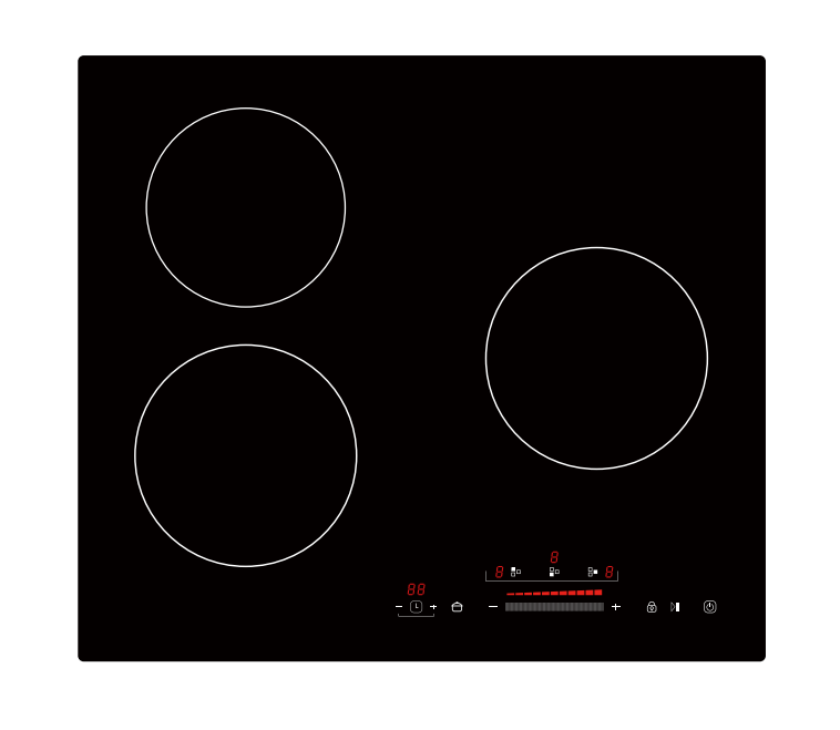 Slide Touch Control 3 Burner Professional Manufacture Of In China 220V for CE electric cooktop