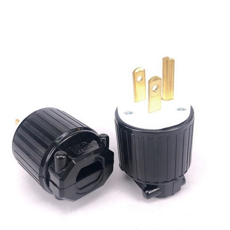 Nieuwe Koperen <span class=keywords><strong>Nema</strong></span> 5-15P Male Power Adapter Plug 3 Pins <span class=keywords><strong>Elektrische</strong></span> Industriële Bedrading Connector Type B