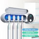 Travel [ Toothbrush Holder ] Wall Toothbrush Holder Olam Wall Mounted Nice Designed Disinfect Toothbrush UV Toothbrush Sanitizer Toothbrush Holder