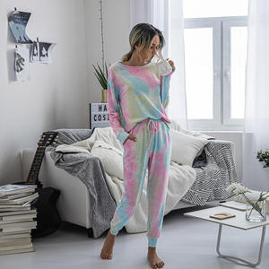 Fashion lounge wear comfortable pajamas two pieces set girls' women's sleepwear