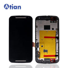 Hot Sale Display for Moto G2 LCD Touch Screen Digitizer with Frame Assembly for Motorola for Moto G 2nd Gen G+1 XT1068 LCD