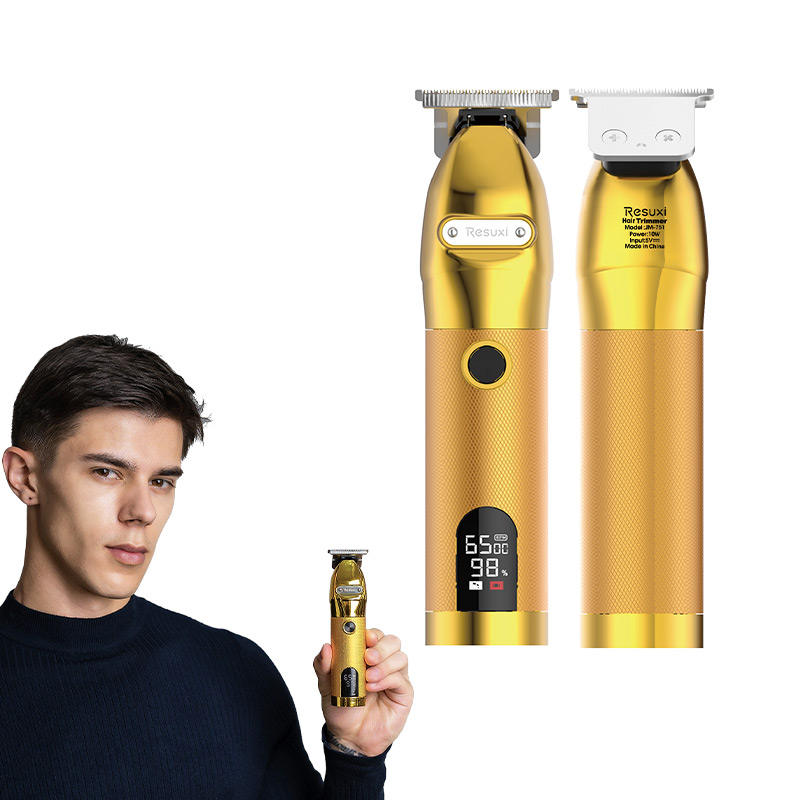 upgrade gold hair trimmer men electric professional hair cutting machine barber salon Beard Trimmer hair clipper for Men