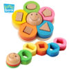 Recognition Geometric Nesting Block Stacker Preschool Wooden Flowers Shape Sorter Toys Building Blocks