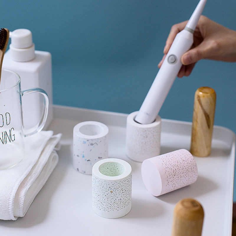 Water Absorption Anti-Bacteria Diatomite Cobblestone Electric Toothbrush Holder