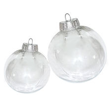 Christmas Tress Decorations Ball 6cm-10cm Transparent Open Plastic Clear Bauble Ornament Gift Present Box Decoration