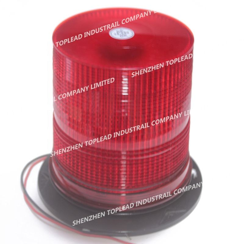 Factory Price DC12-48V Red LED Strobe Beacon Light, 80 Pieces SMD 5050 Led Flashing and Rotating Emergency Warning Lamp