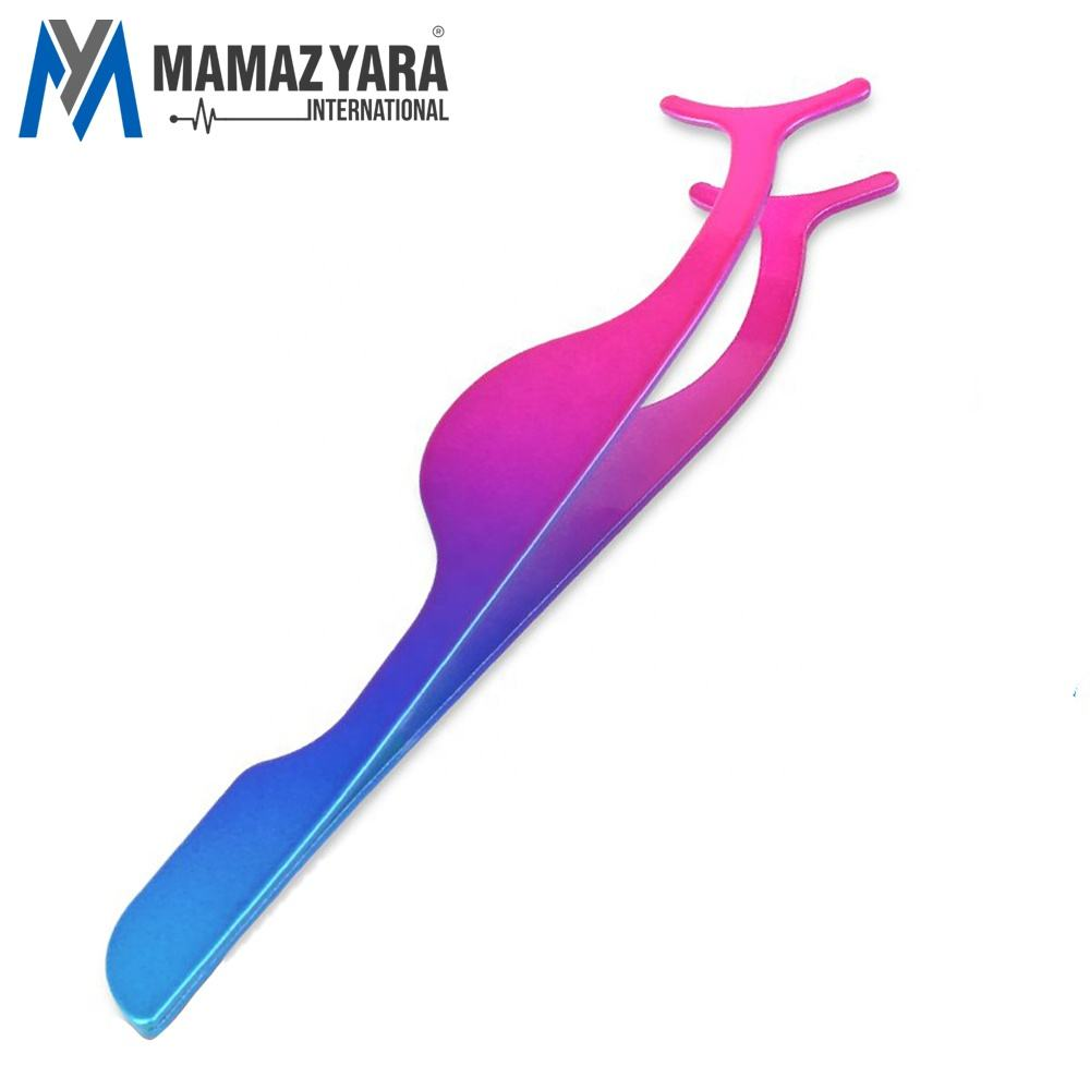 Valse Wimpers Applicator Tool Wimper Extension Pincet Remover Clip Pincet Sky Blue & Roze Gecoat MYI-BTY-00109