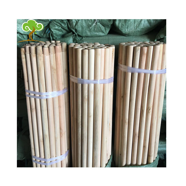 China Manufacturer Home Usage Natural wooden mop stick broom stick with 120*2.2cm