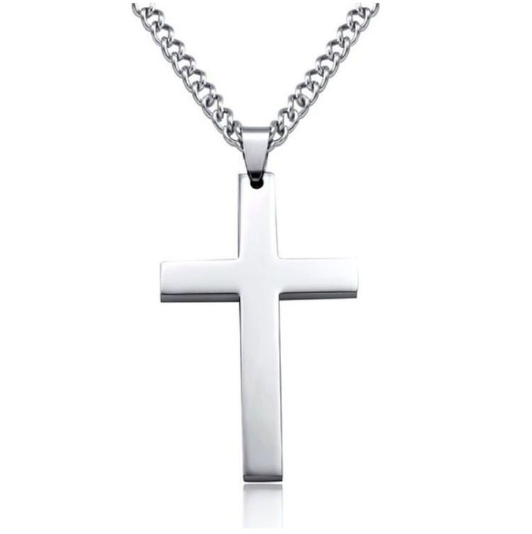 Custom jewelry 316 stainless steel titanium cross pendant