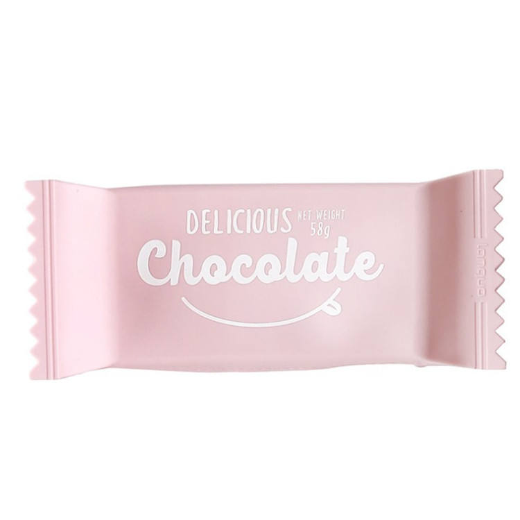 Chocolate candy silicone smiggle pencil case cute with zipper school custom print kids felt for girls stationery kawaii pouch