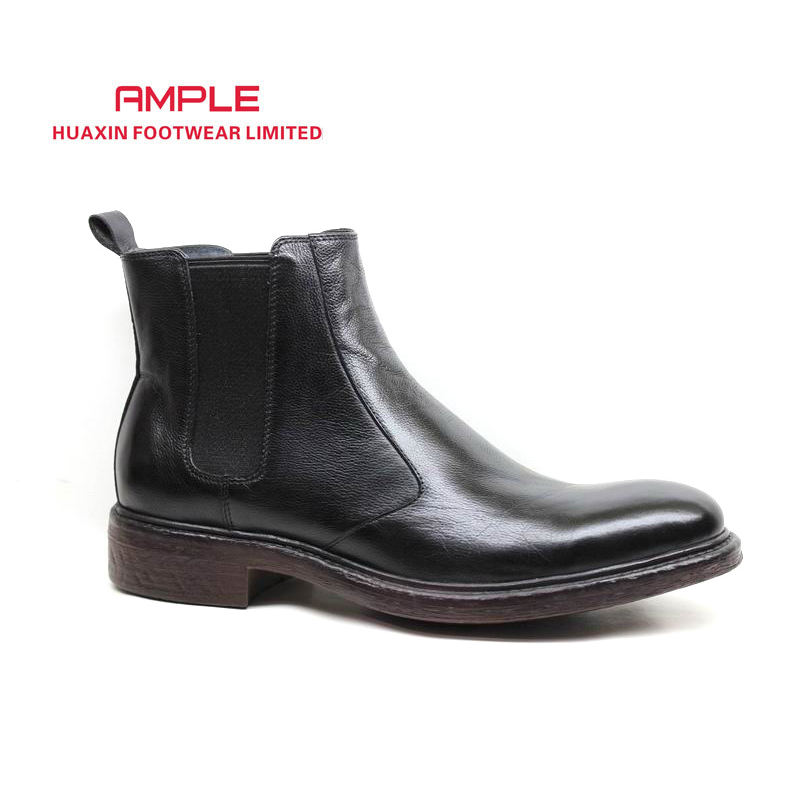 men leather boots casual chukka boots ankle boots for men