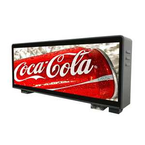 Outdoor Digitale Drahtlose Auto Dach Zeichen Werbung Bildschirm Taxi Top LED Display