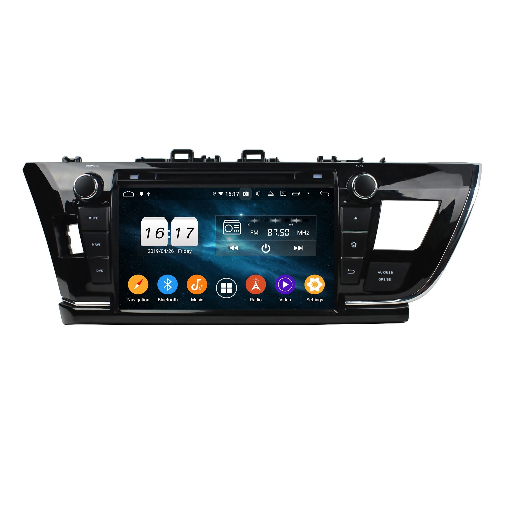 KD-9002 KLYDE Factory Wholesale Android 10 Car Auto Radio Stereo Multimedia Video <span class=keywords><strong>DVD</strong></span> Player für Corolla 2013-2016 LHD GPS Navi