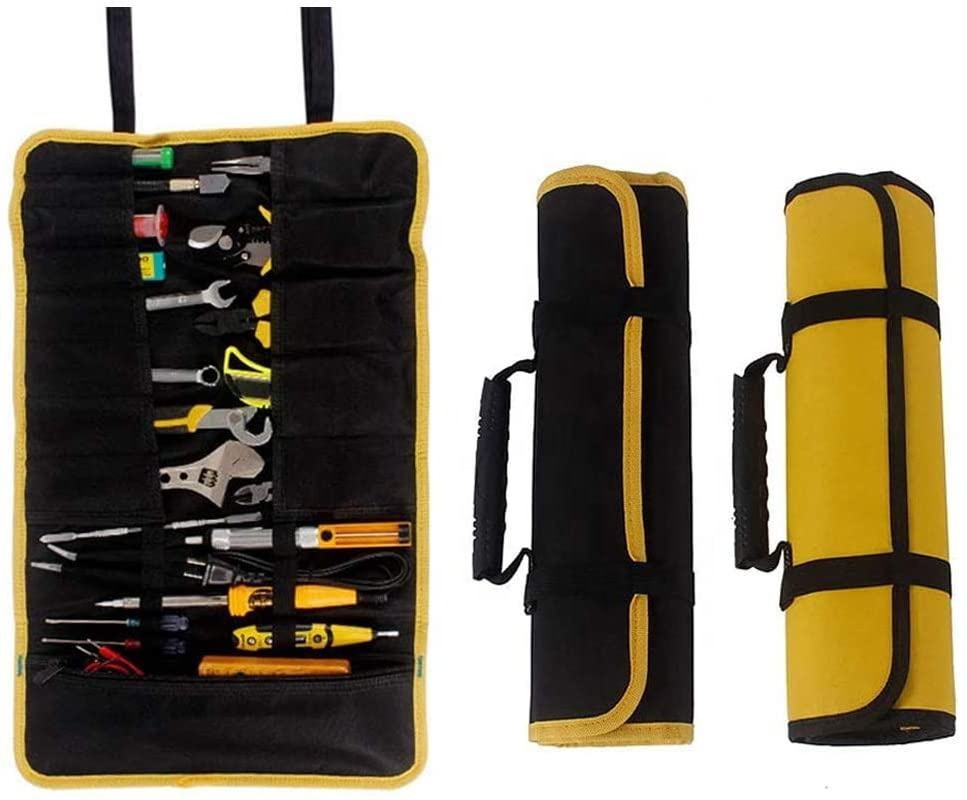Canvas Roll Up Tool Tassen, Multi-Purpose Tool Pouch, Zware Opknoping Tool Organizer, wrap Roll Met Rits