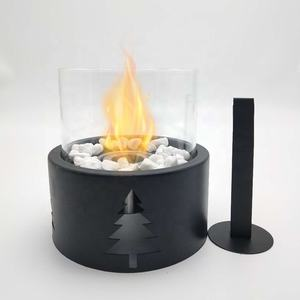 Christmas Metal Big Size Round Bio Ethanol fireplace for tabletop Indoor