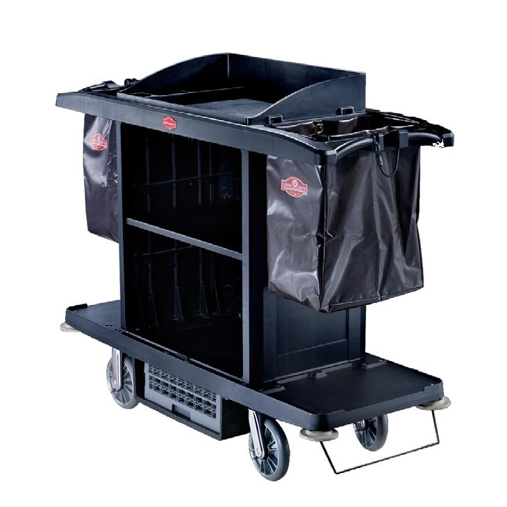 Janitorial Supplies Folding Cleaning Cart Multifunction Janitor Used Housekeeping Carts Plastic Hotel Service Cleaning Trolley