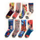 Tube Socks Designer Print Socks High Quality Custom Fashion Woven Girl Women Colorful Cotton 3D Digital Print Tube Designer Socks For Women